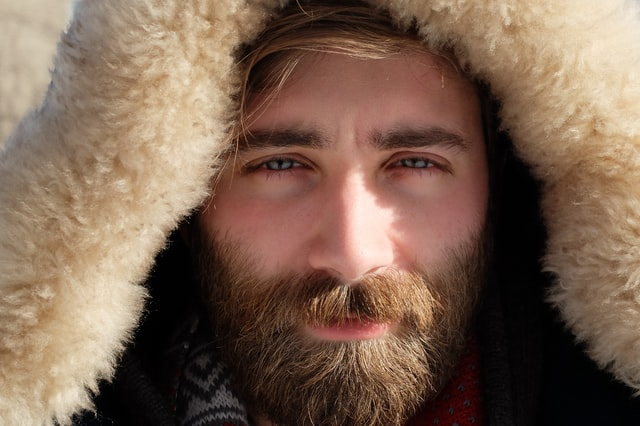 Healthy beard growth in males